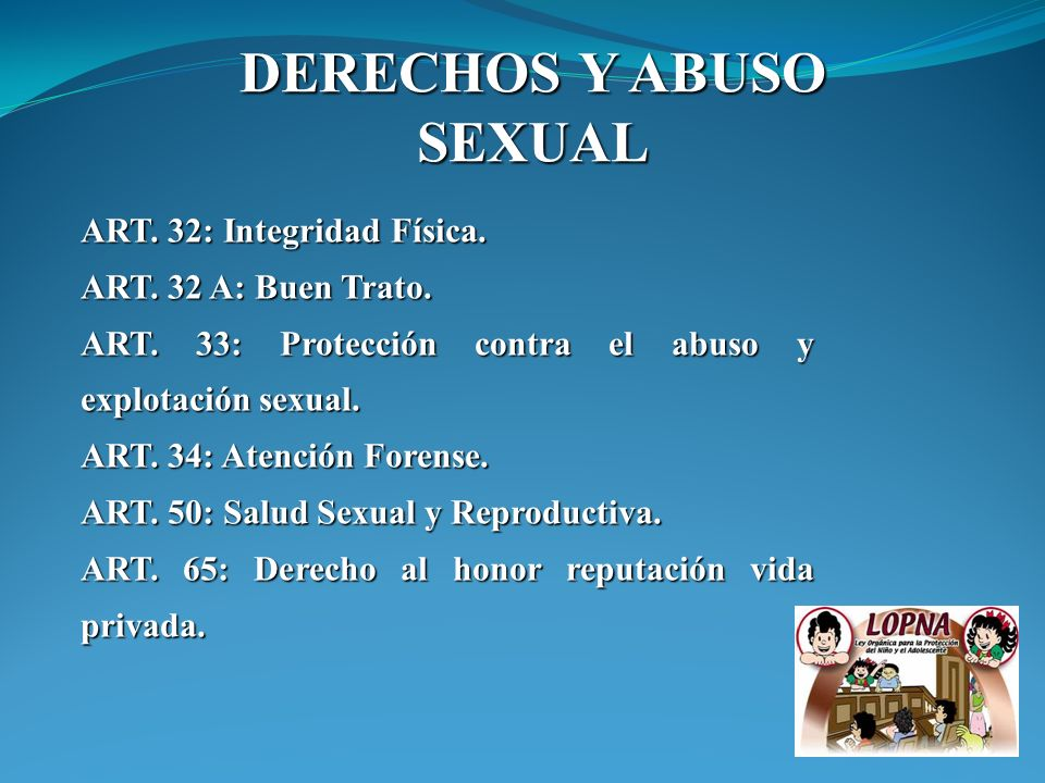 DERECHOS Y ABUSO SEXUAL