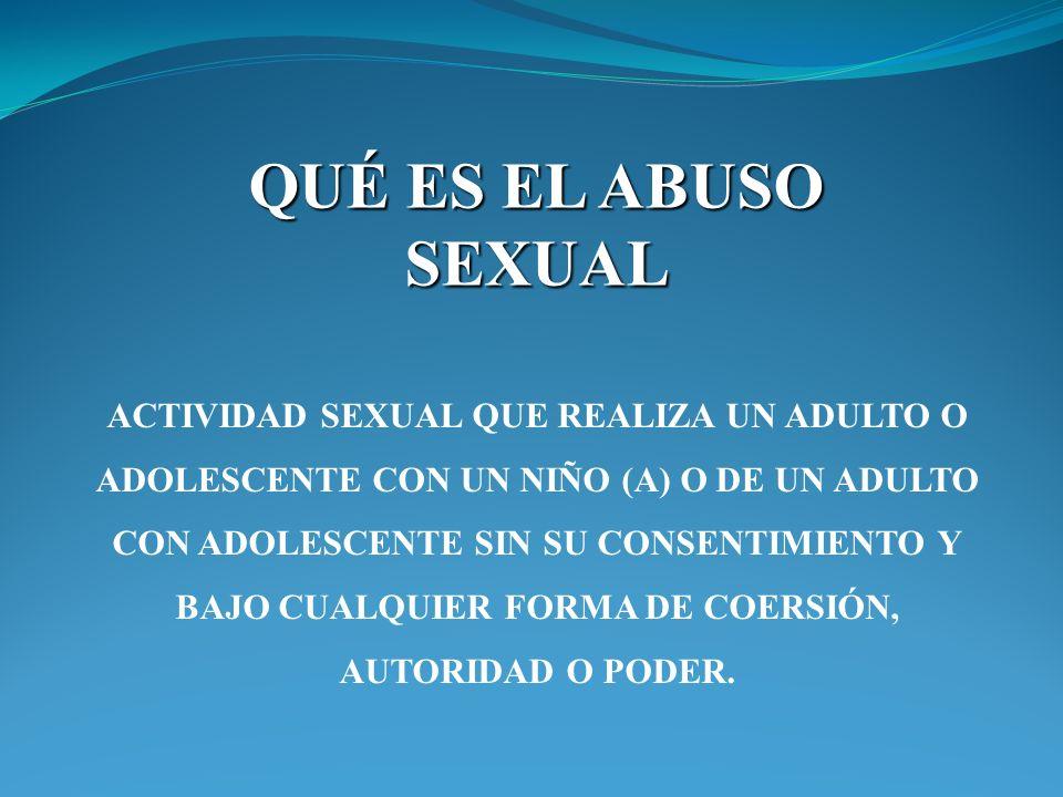 QUÉ ES EL ABUSO SEXUAL