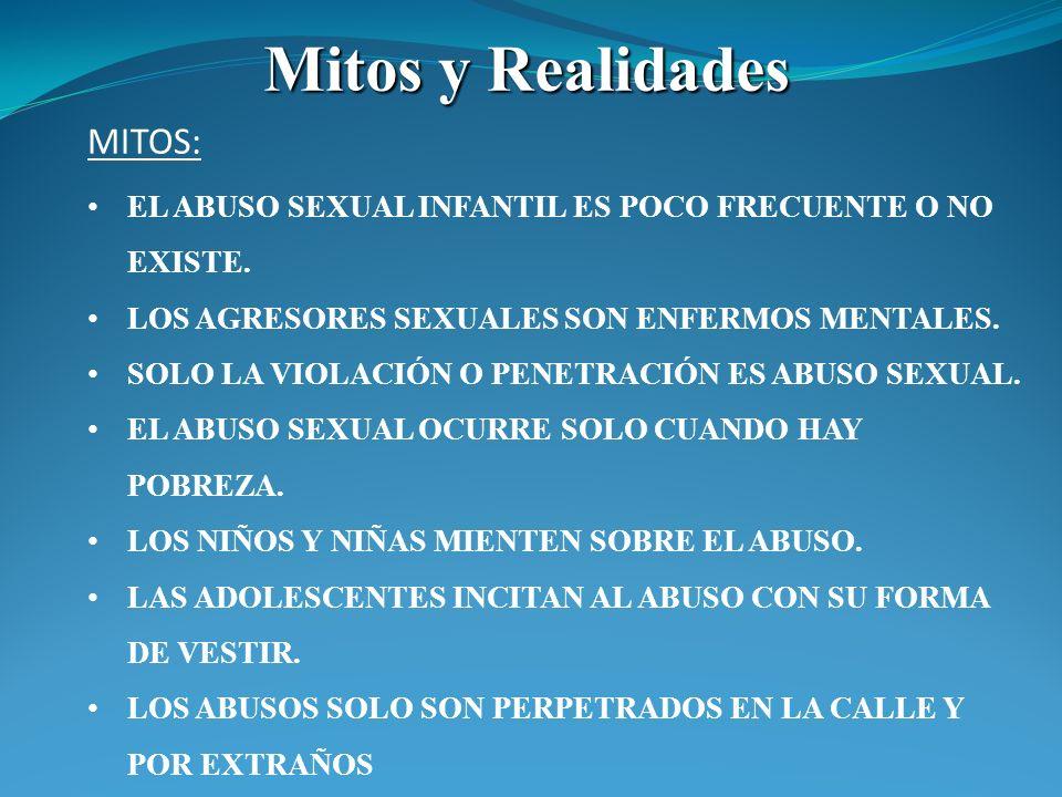 Mitos y Realidades MITOS: