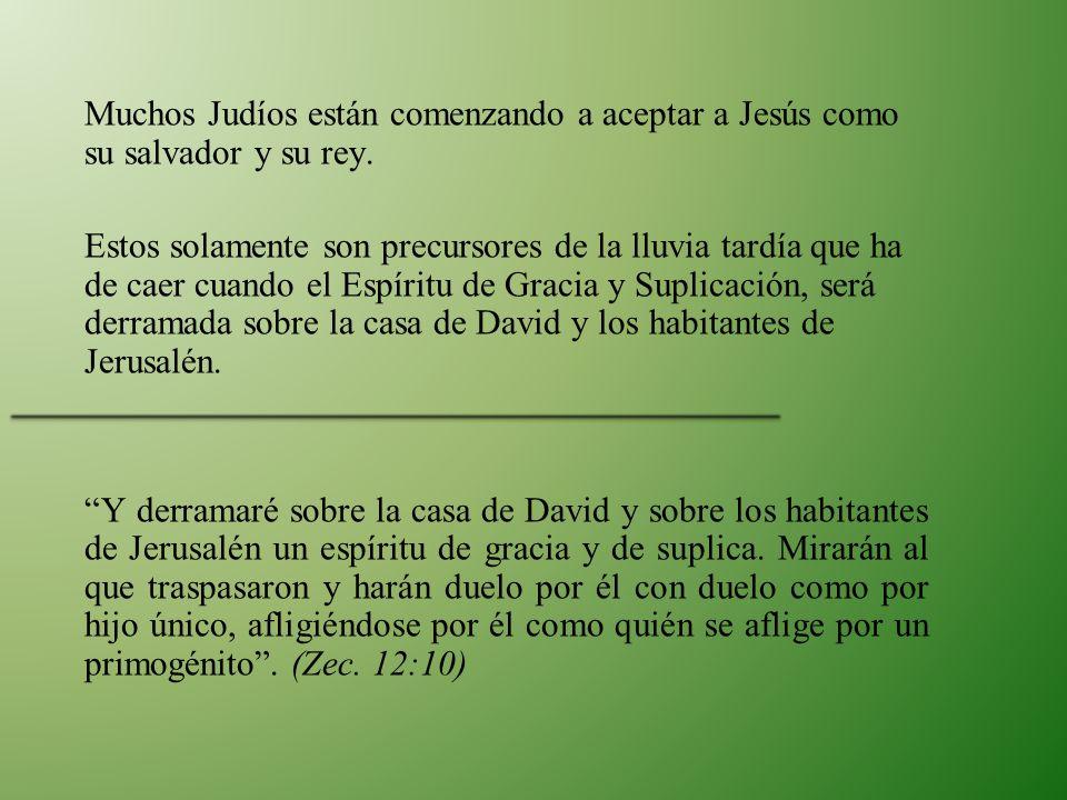 Muchos Judíos están comenzando a aceptar a Jesús como su salvador y su rey.