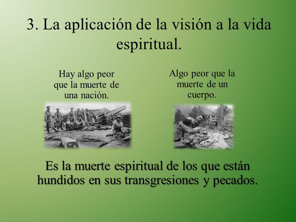 3. La aplicación de la visión a la vida espiritual.