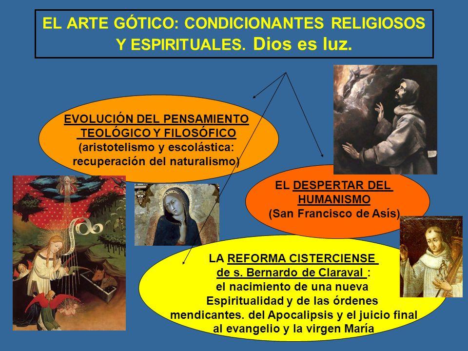 EL ARTE GÓTICO: CONDICIONANTES RELIGIOSOS Y ESPIRITUALES. Dios es luz.