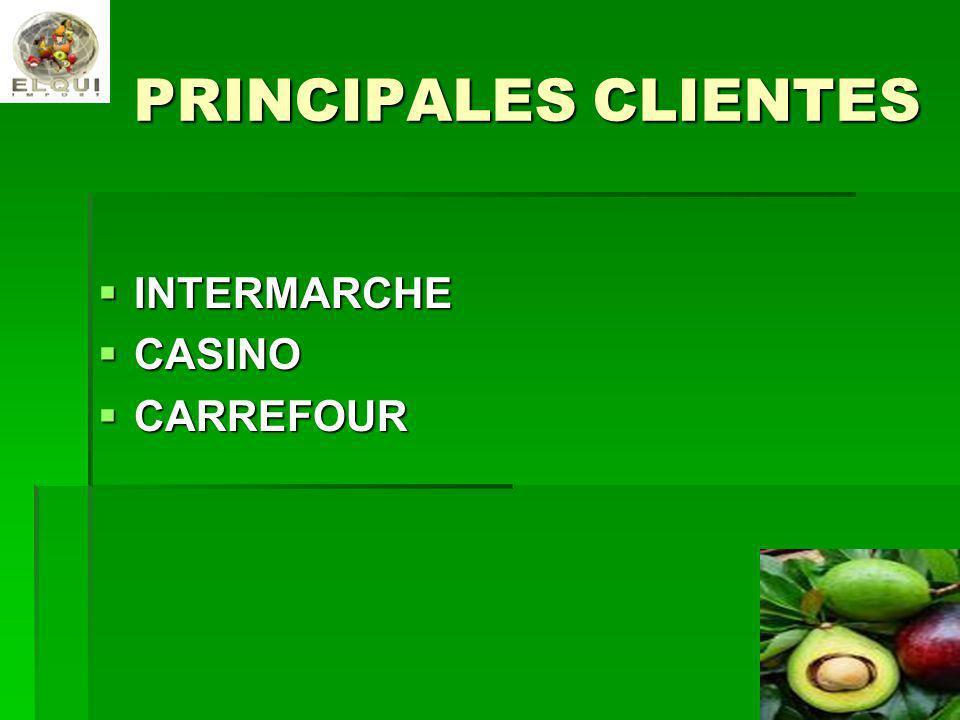 PRINCIPALES CLIENTES INTERMARCHE CASINO CARREFOUR