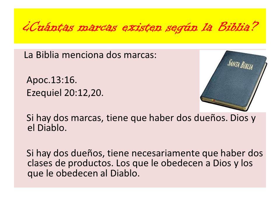 ¿Cuántas marcas existen según la Biblia