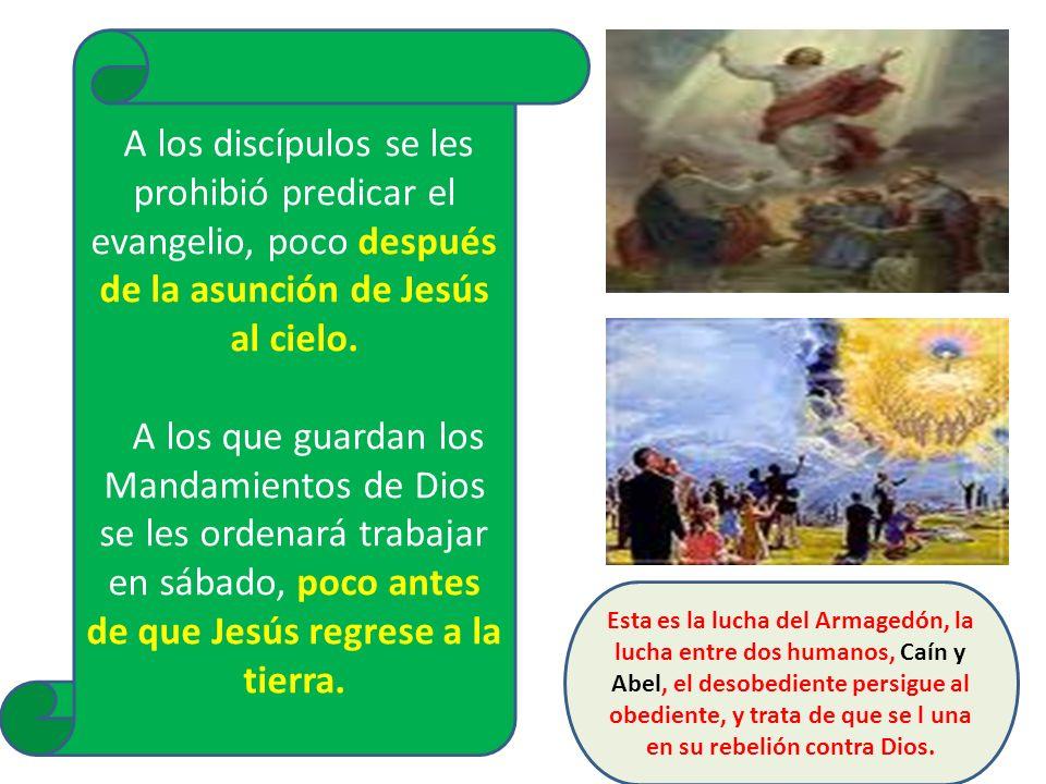 A los discípulos se les prohibió predicar el evangelio, poco después de la asunción de Jesús al cielo.