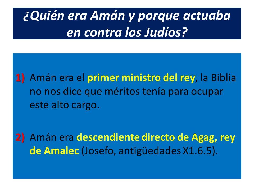 ¿Quién era Amán y porque actuaba en contra los Judíos