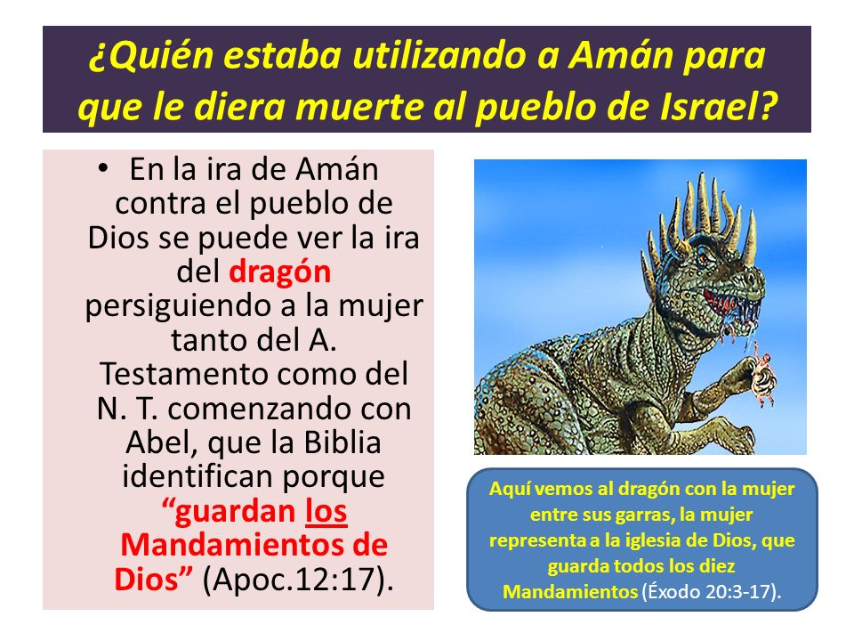 ¿Quién estaba utilizando a Amán para que le diera muerte al pueblo de Israel