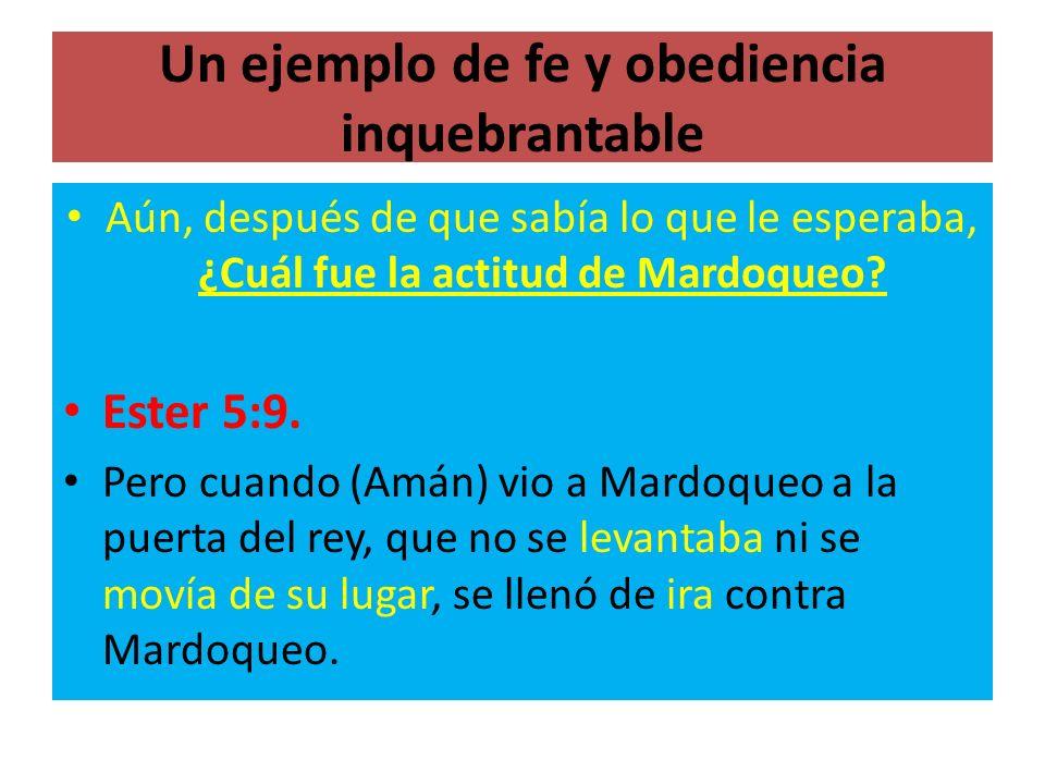Un ejemplo de fe y obediencia inquebrantable