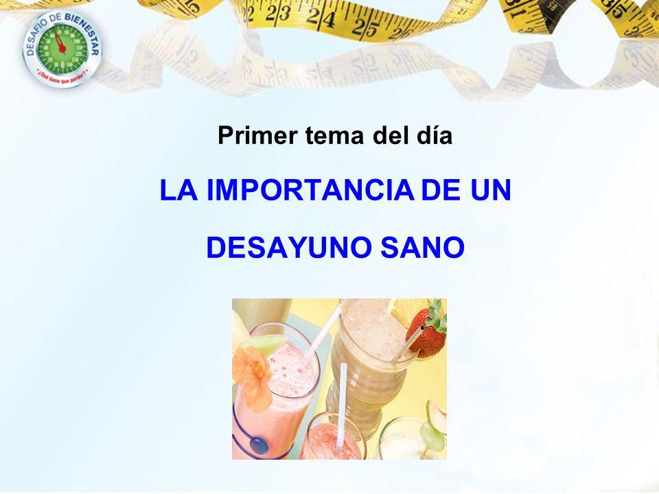 LA IMPORTANCIA DE UN DESAYUNO SANO
