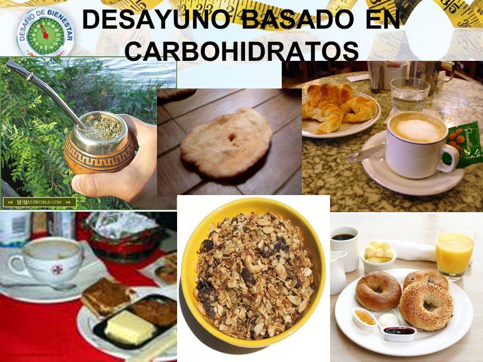 DESAYUNO BASADO EN CARBOHIDRATOS
