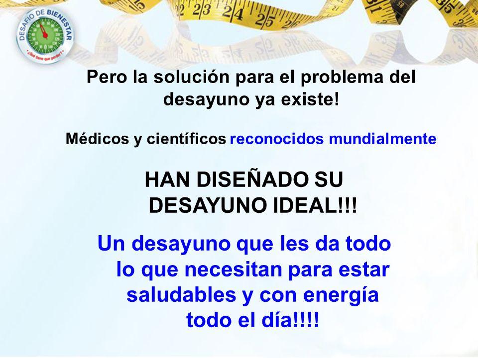 HAN DISEÑADO SU DESAYUNO IDEAL!!!