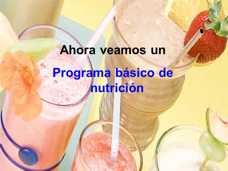 Programa básico de nutrición