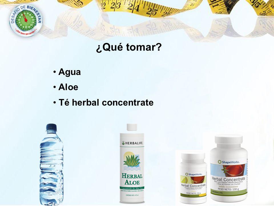 ¿Qué tomar Agua Aloe Té herbal concentrate 60