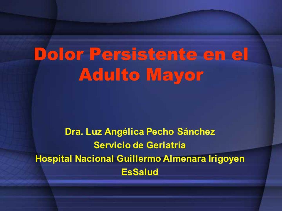 Dolor Persistente en el Adulto Mayor