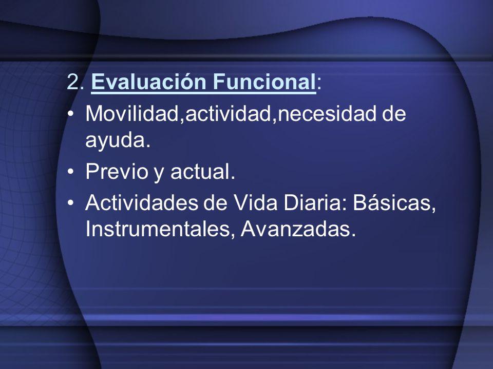 2. Evaluación Funcional: