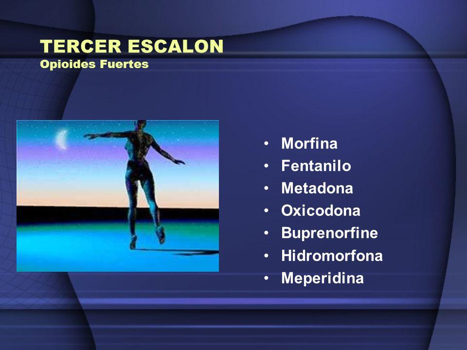 TERCER ESCALON Opioides Fuertes