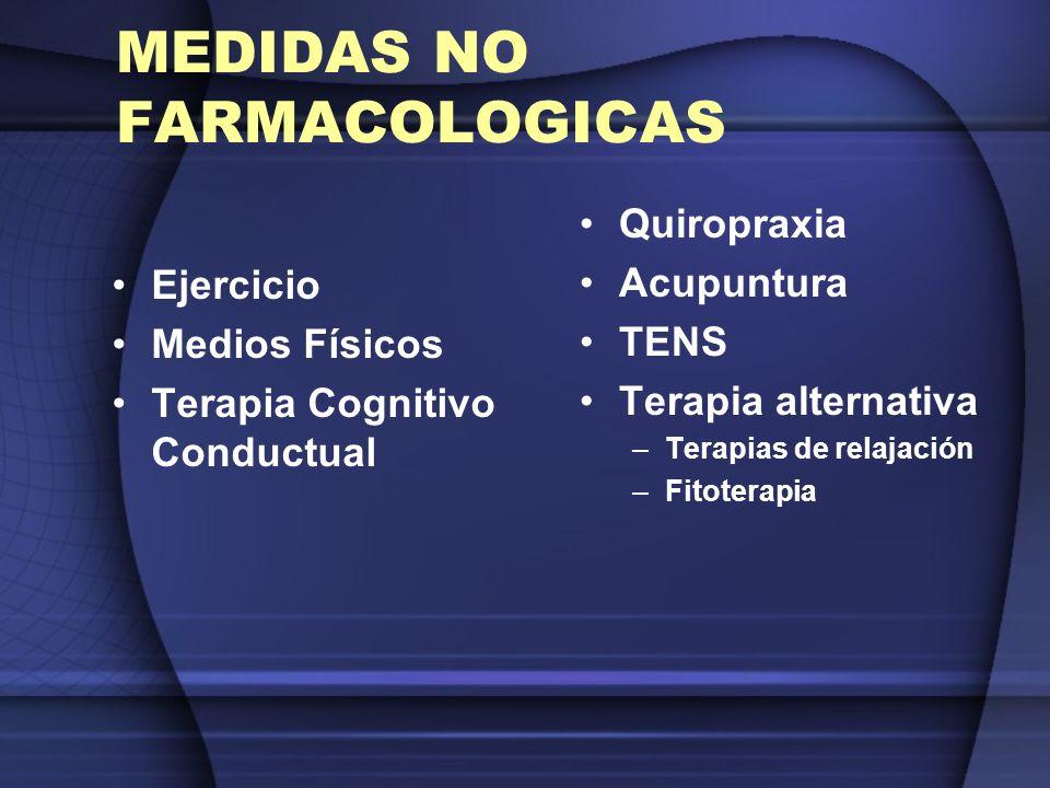 MEDIDAS NO FARMACOLOGICAS