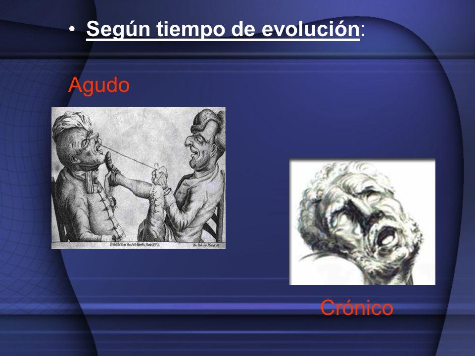 Según tiempo de evolución: