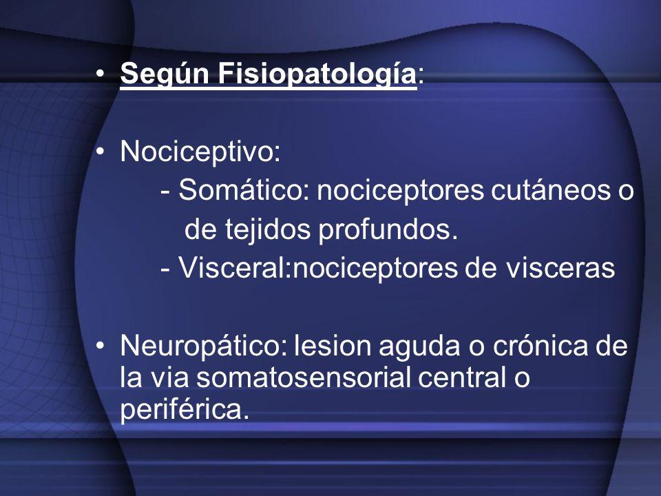 Según Fisiopatología: