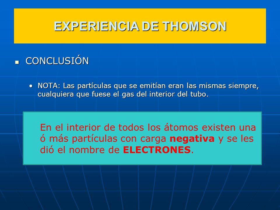 EXPERIENCIA DE THOMSON