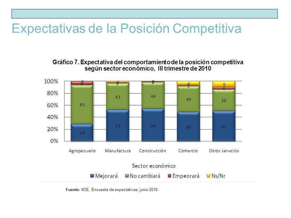 Expectativas de la Posición Competitiva