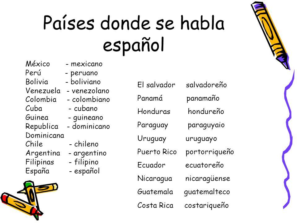 Países donde se habla español