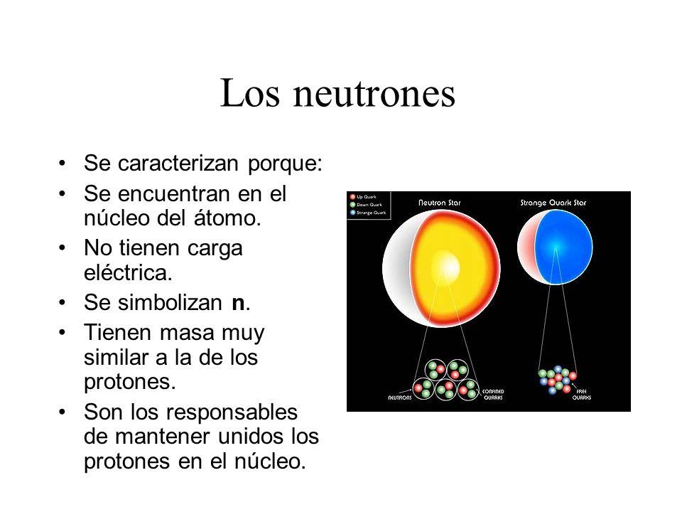 Los neutrones Se caracterizan porque:
