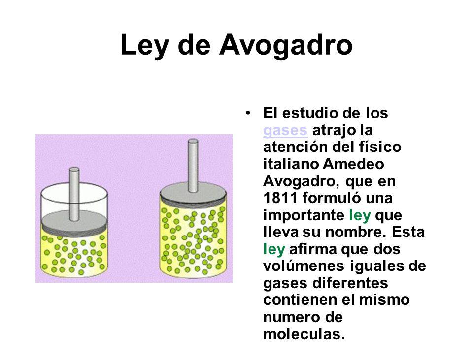 Ley de Avogadro