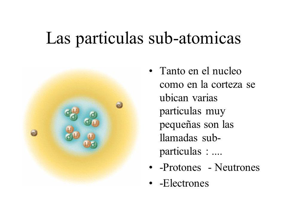 Las particulas sub-atomicas