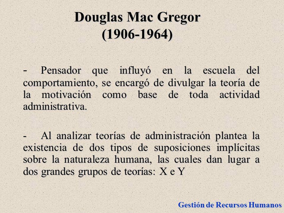 Douglas Mac Gregor (1906-1964)