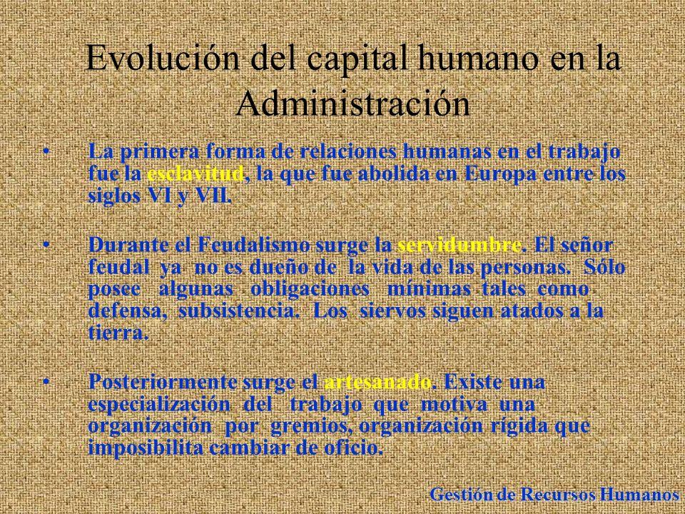 Evolución del capital humano en la Administración