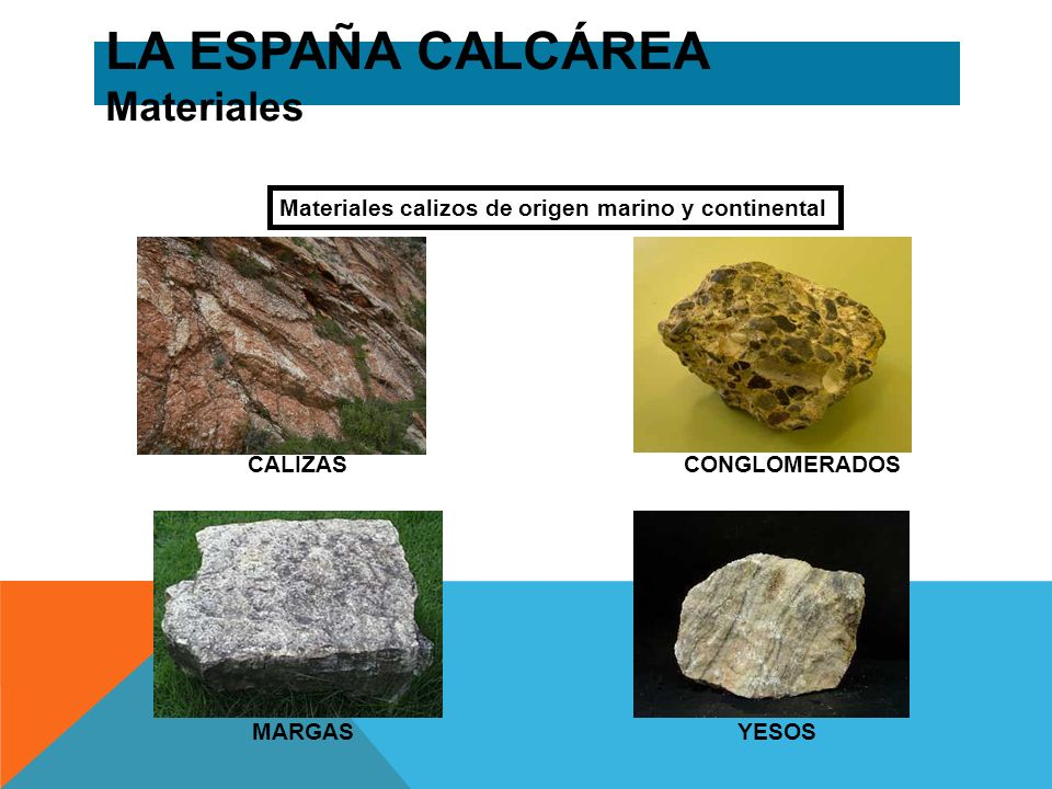 LA ESPAÑA CALCÁREA Materiales