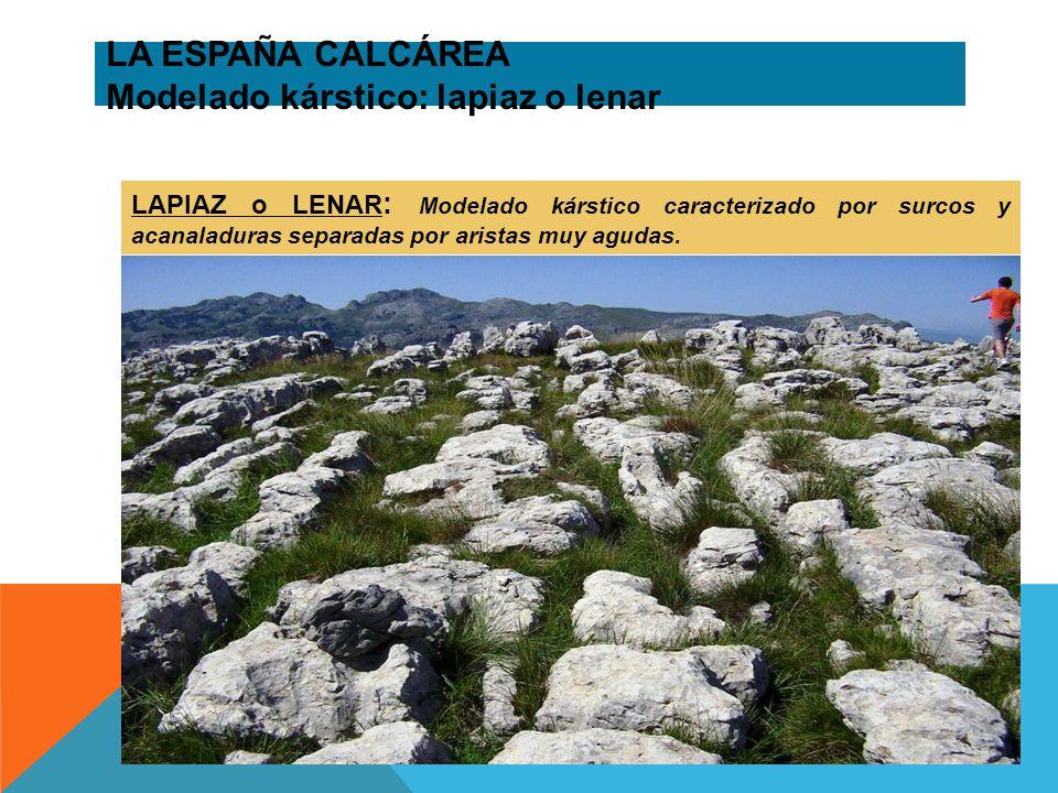 LA ESPAÑA CALCÁREA Modelado kárstico: lapiaz o lenar
