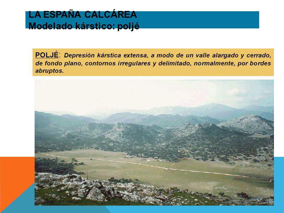 LA ESPAÑA CALCÁREA Modelado kárstico: poljé