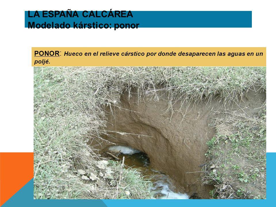 LA ESPAÑA CALCÁREA Modelado kárstico: ponor