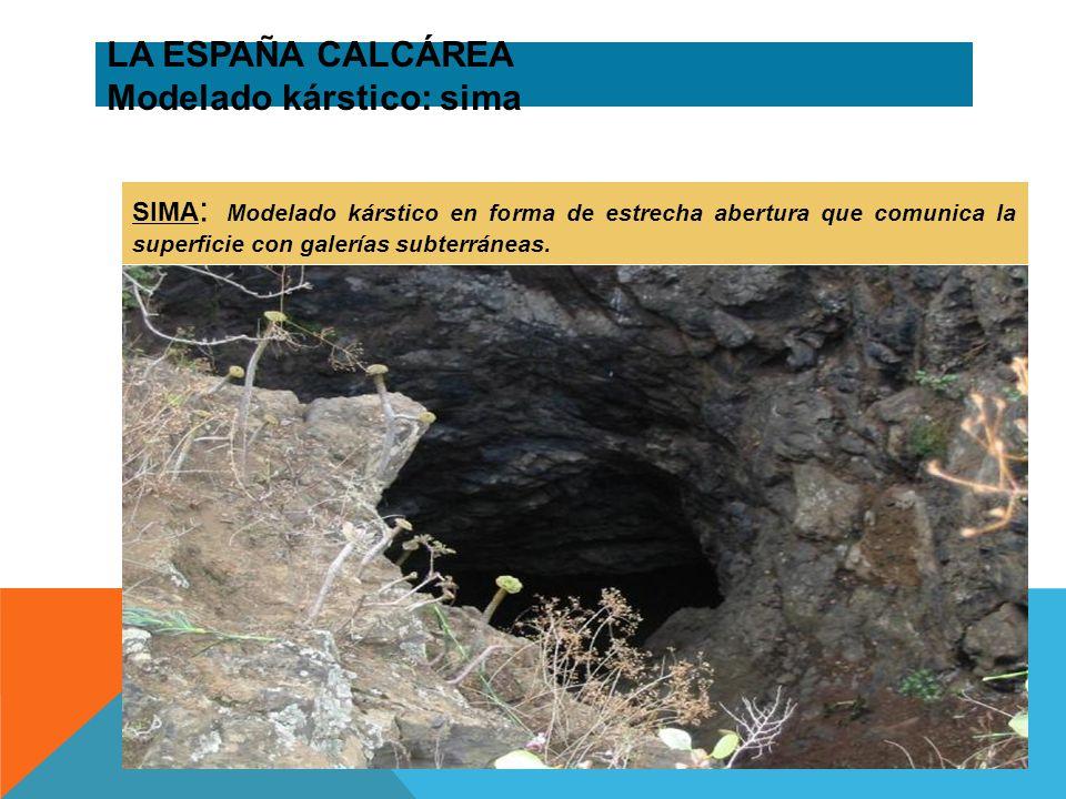 LA ESPAÑA CALCÁREA Modelado kárstico: sima
