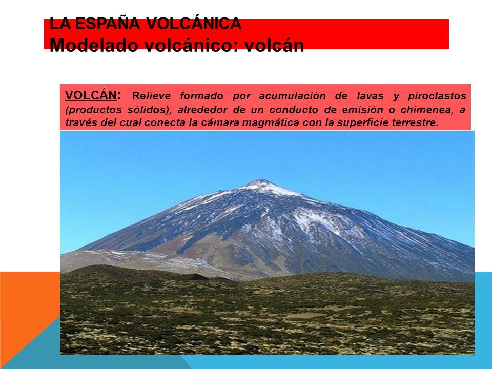 LA ESPAÑA VOLCÁNICA Modelado volcánico: volcán