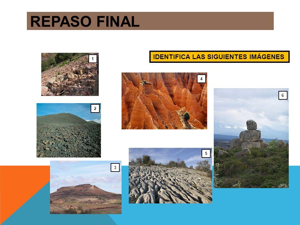 REPASO FINAL IDENTIFICA LAS SIGUIENTES IMÁGENES 1 4 6 2 5 3