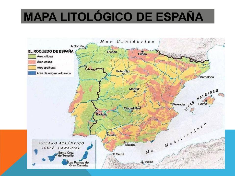 MAPA LITOLÓGICO DE ESPAÑA