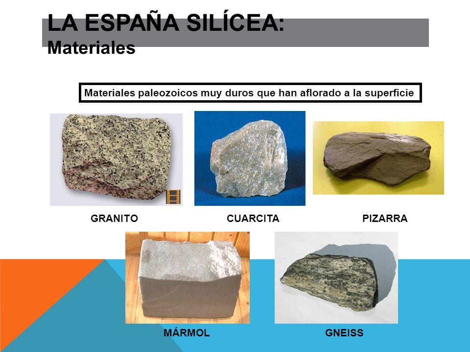 LA ESPAÑA SILÍCEA: Materiales