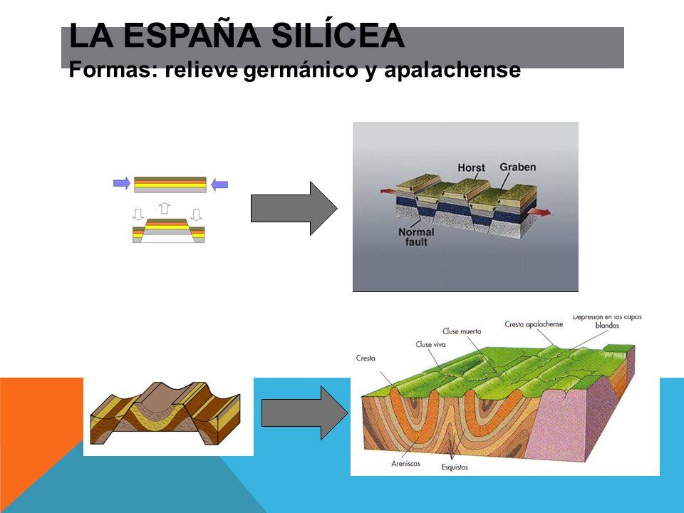 LA ESPAÑA SILÍCEA Formas: relieve germánico y apalachense