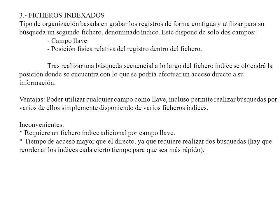3.- FICHEROS INDEXADOS