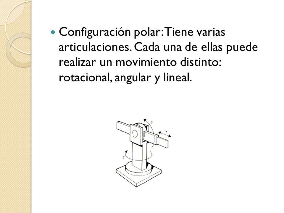 Configuración polar: Tiene varias articulaciones