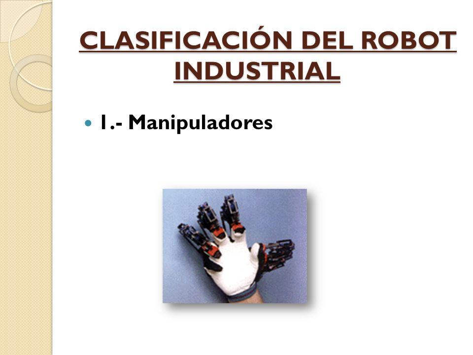 CLASIFICACIÓN DEL ROBOT INDUSTRIAL
