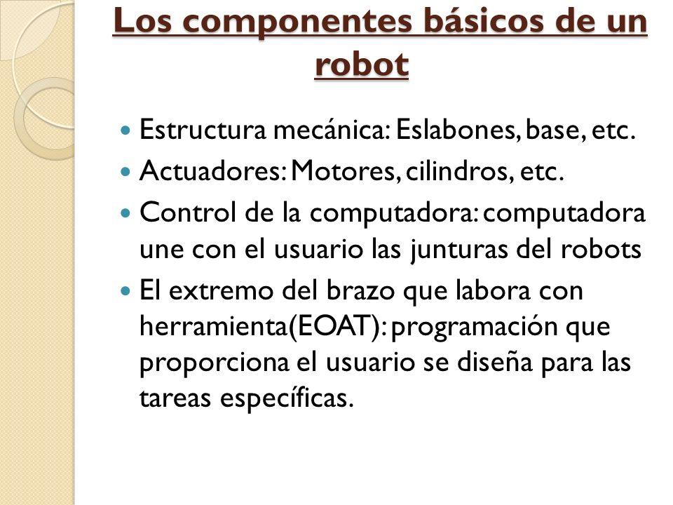 Los componentes básicos de un robot