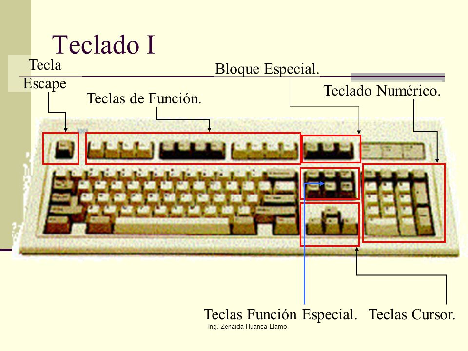 Teclado I Tecla Escape Bloque Especial. Teclado Numérico.