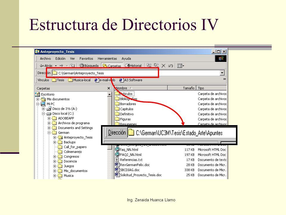 Estructura de Directorios IV