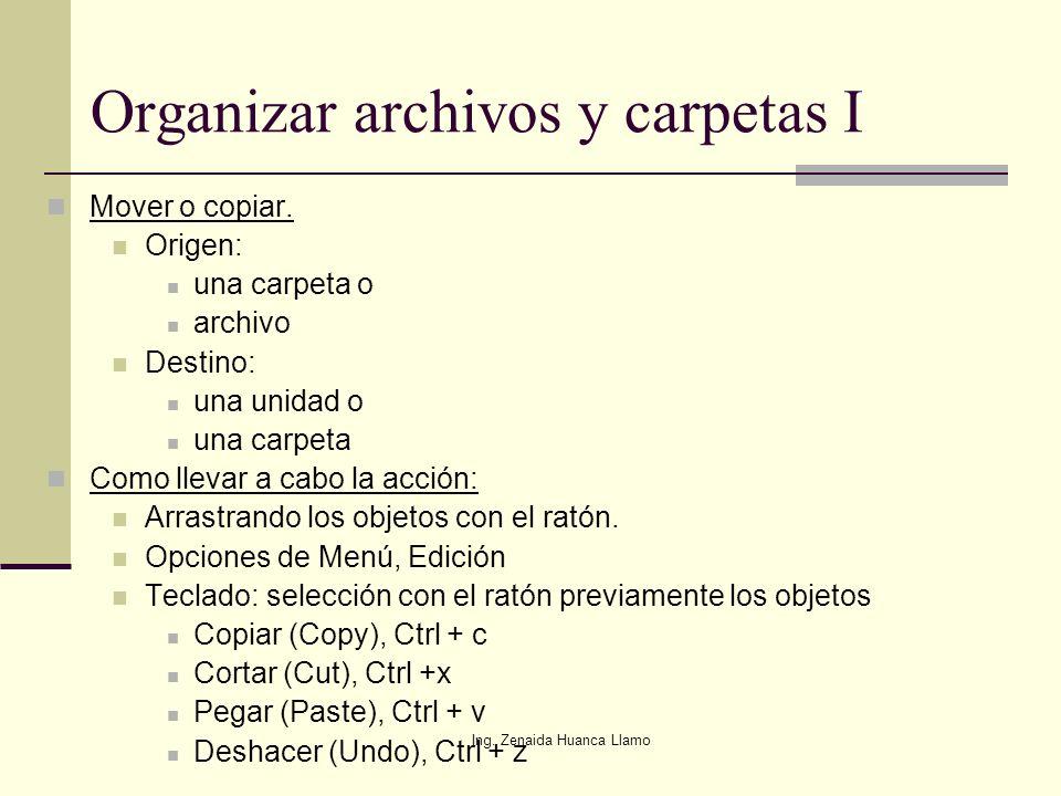 Organizar archivos y carpetas I