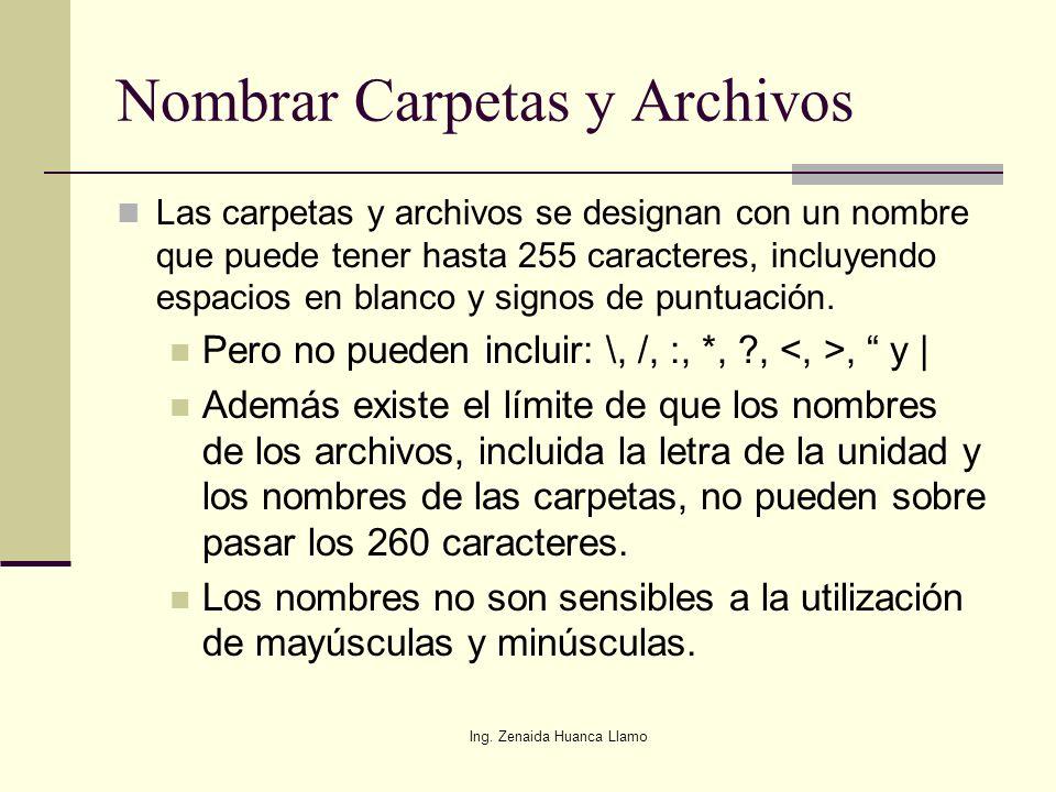 Nombrar Carpetas y Archivos
