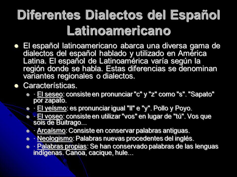 Diferentes Dialectos del Español Latinoamericano